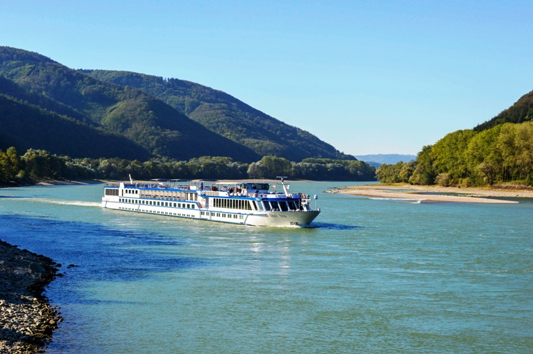 The River Boat Aria Sailing the Blue Danube. Photo by Grand Circle Tours