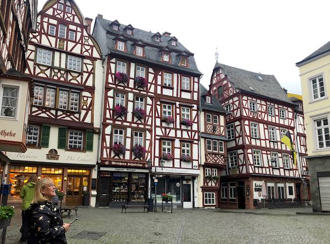 Half-timber houses in Bernkastel's marketplace. Photo by Claudia Carbone