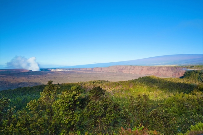 An Active Volcanic Crater on Hawaii Island. Photo by Victor Block