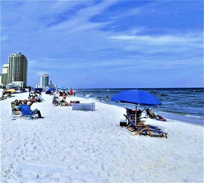 Many people visit Alabama's Gulf Coast for Several Sections of Inviting Beaches. Photo by Gena0520/Dreamstime.com