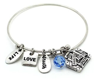 Travel Charm Bracelet from Amazon