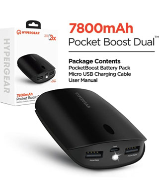 HyperGear Pocket Boost 7800mAh Portable Battery