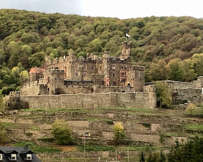Medieval castle along the Upper Middle Rhine UNESCO World Heritage Site. Photo by Claudia Carbone