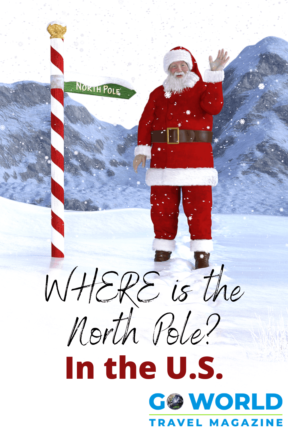 "Where is the North Pole? These are ""designated"" locations in the United States to see Santa Claus. #whereisnorthpole #northpoleus #santaclausnorthpole #santaclaus"