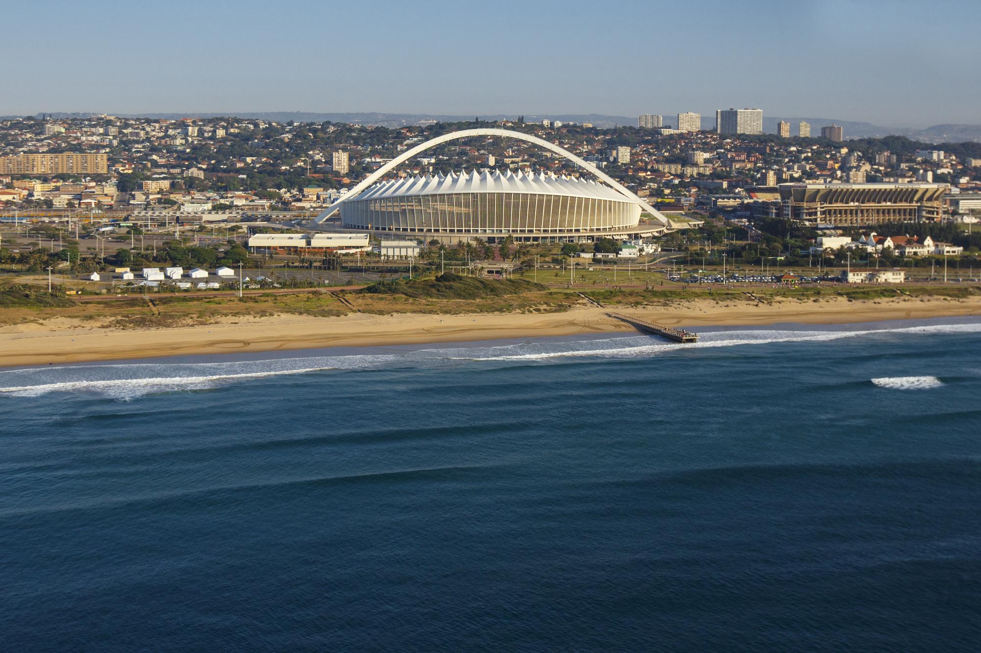 Aerial view of Moses Mabhida Stadium - Image from Moses Mabhida Stadiums