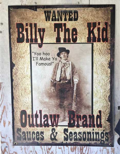 Billy the Kid is popular and used for many local brands in Lincoln County, New Mexico. Photo by Rich Grant