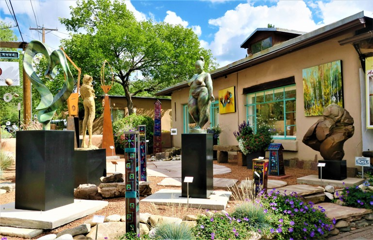 Canyon Road in Santa Fe, NM is One of Many Outlets for Art Galleries. Photo by Victor Block