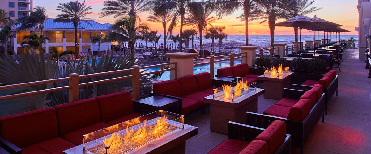 Sandpear Resort in Clearwater, Florida is known for their luxury accommodations and excellent beach.