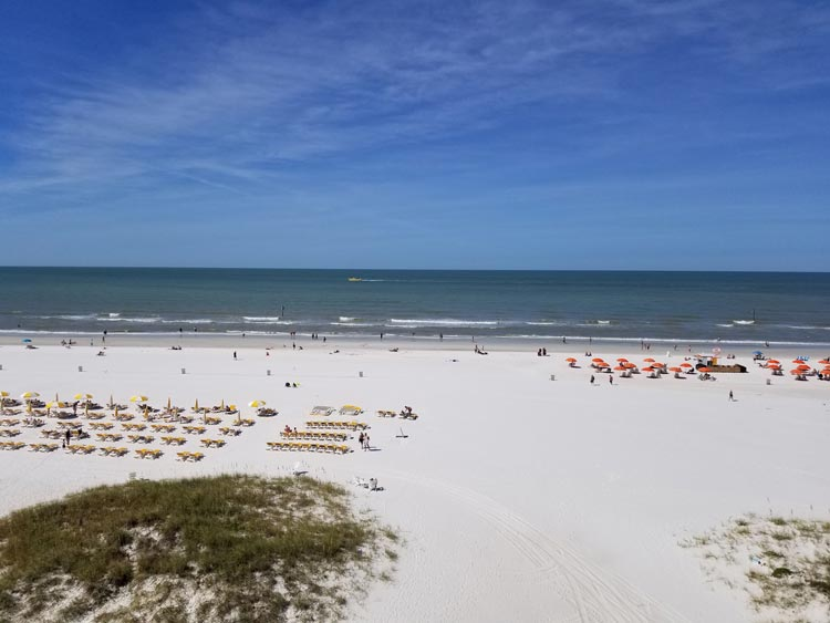 Beach at the Sandpearl Resort in Clearwater, Florida