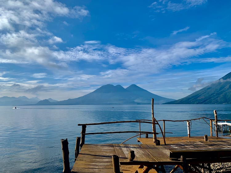 Waking up to Lake Atitlan