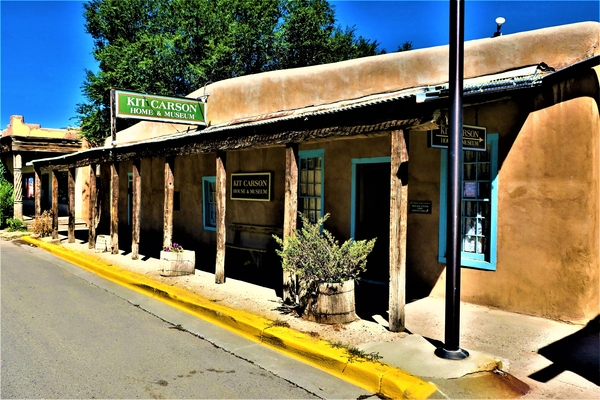 The Kit Carson Home in Taos, New Mexico. Photo by Victor Block