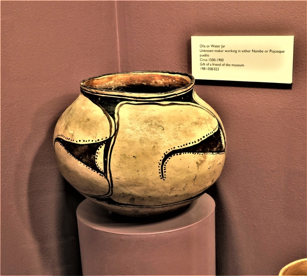 North American Pottery at the Millicent Rogers Museum in Taos, New Mexico. Photo by Victor Block