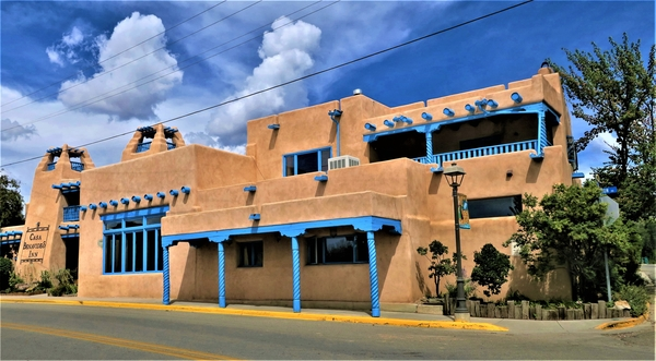 Typical Adobe Architecture in Taos, New Mexico. Photo by Victor Block