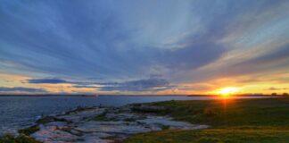 Sunset over Botany Bay in Sydney, NSW