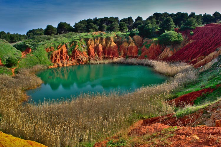 Bauxite quarry in Salento