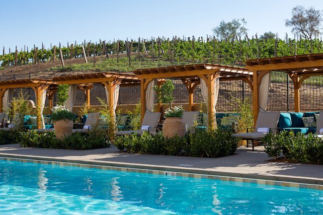 Pool and cabanas at Allegretto. Photo courtesy of Allegretto Vineyard Resort