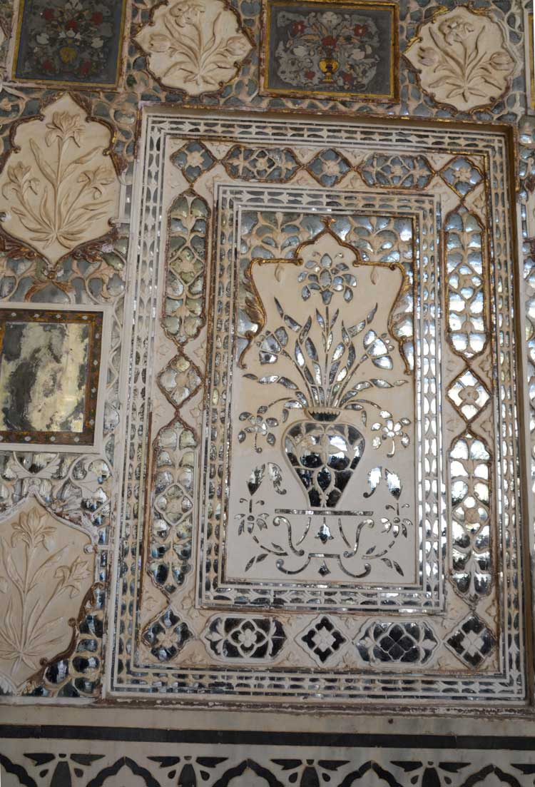 Amber Fort Mirrored Panels at the Taj Majal