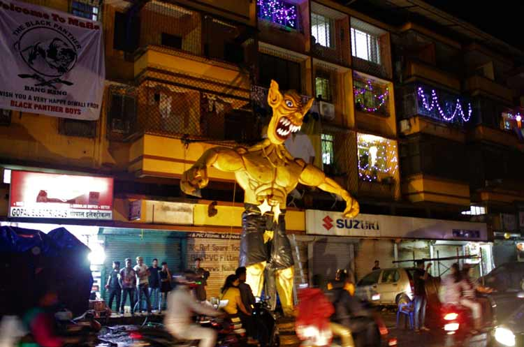 An effigy of the demon Narakasura in Panjim