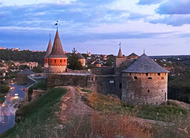 Kamianets-Podilskyi castle, also known as the Old Fortress. Photo by Amanda Renna
