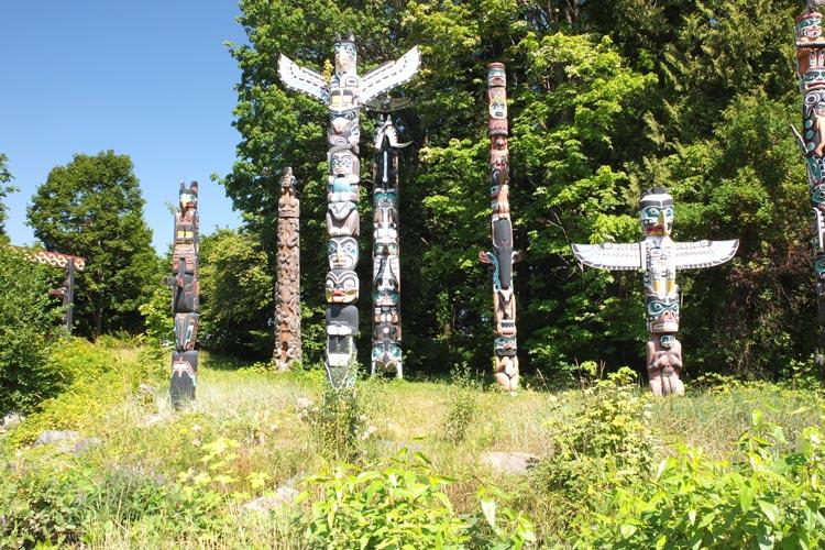 Totem Poles at Brockton Point