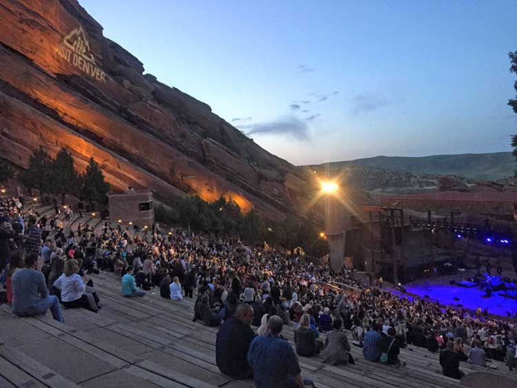 Concert at Red Rocks Amphitheater. Photo by Rich Grant