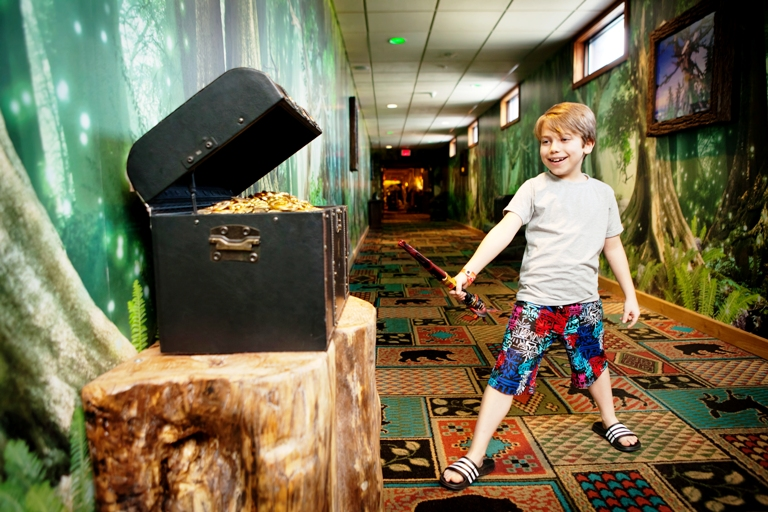 The MagiQuest challenge at Great Wolf Lodge offers ingenious and fun clues to those adventurous enough to tackle them. Photo by Great Wolf Lodge