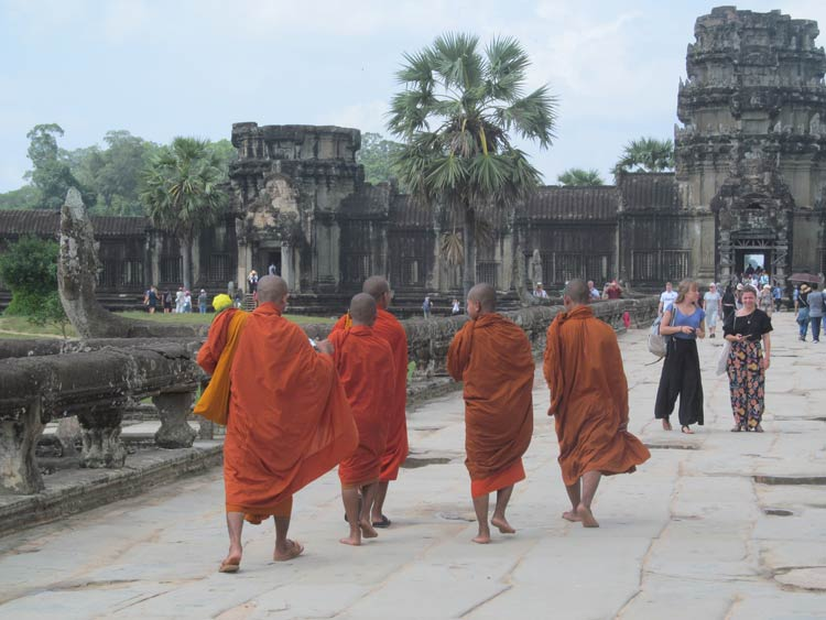 Buddhist monks in Siem Reap, Cambodia