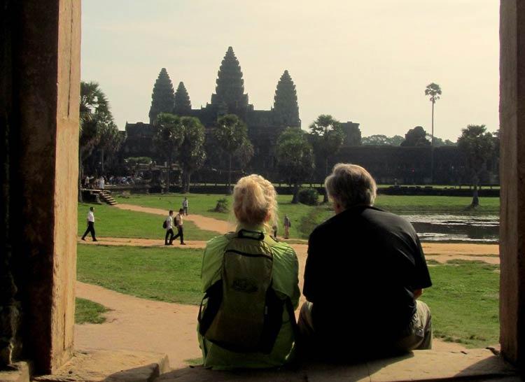 Carol Bowman in Siem Reap, Cambodia