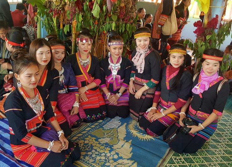 Festival Hostesses at the Khmu's New Year Festival