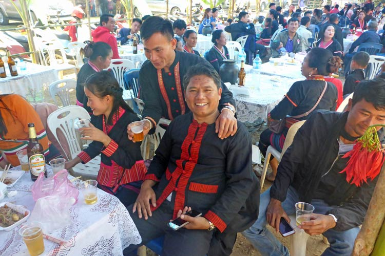 Partying with Sommay and friends at the Khmu's New Year Festival