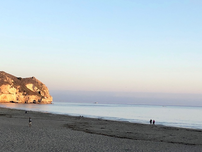 Dusk at Avila Beach off Highway 1. Photo by Claudia Carbone