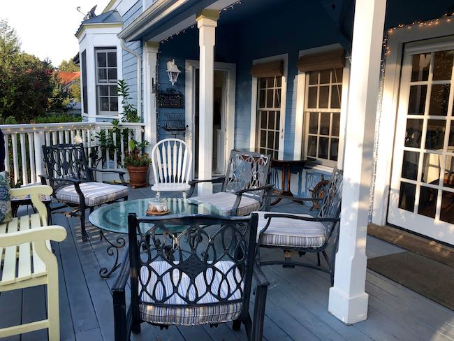 Back porch for happy hour. Photo by Claudia Carbone