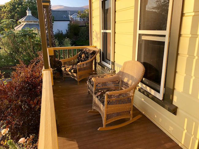 Cass House porch at sunset. Photo by Claudia Carbone