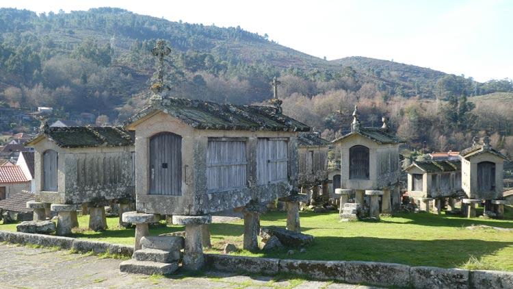 The 18th and 19th century granaries look like mini-mausoleums