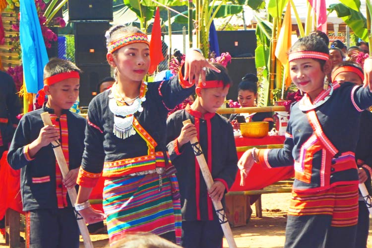 Traditional Dancing at the Khmu's New Year Festival