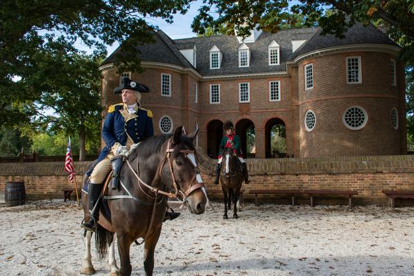 A George Washington re-enactor at Colonial Williamsburg, Virginia. Photo by Blackghost600/Dreamstime.com