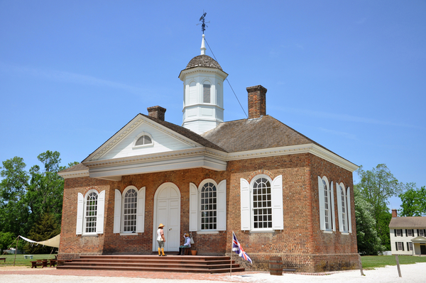 The Courthouse at Colonial Williamsburg, Virginia. Photo by Wangku Jia/Dreamstime.com