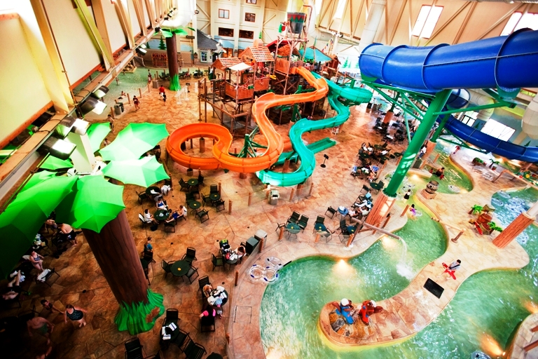 The Great Wolf Lodge Waterpark in Williamsburg, VA offers activities for every age. Photo by Great Wolf Lodge