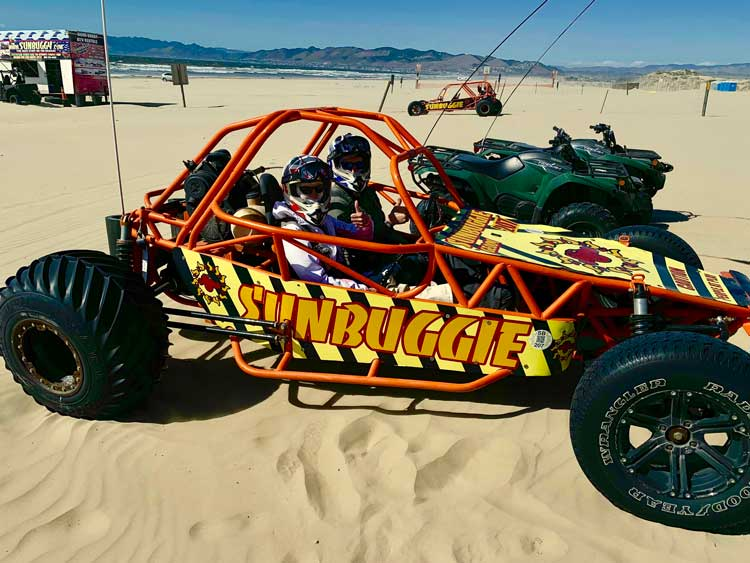 Dune buggy adventure at Oceano Dunes State Park. Photo by Janna Graber