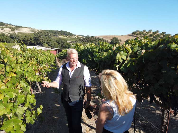 Jeff Faber at Opolo Vineyards explains part of the winemaking process. Photo by Benjamin Rader