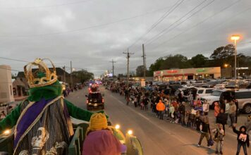 Mardi Gras Children's Parade in Lake Charles, Louisiana