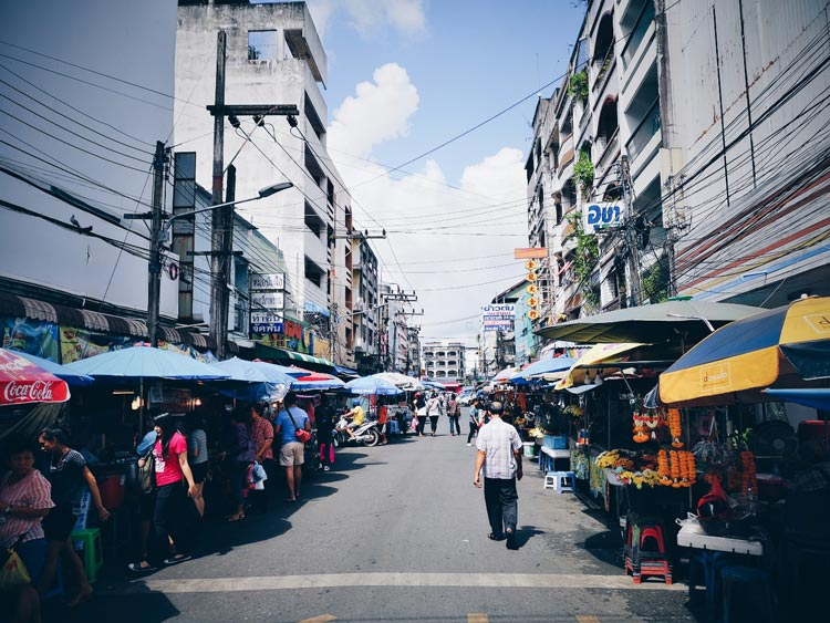Abundance of street food and markets in Hat Yai.