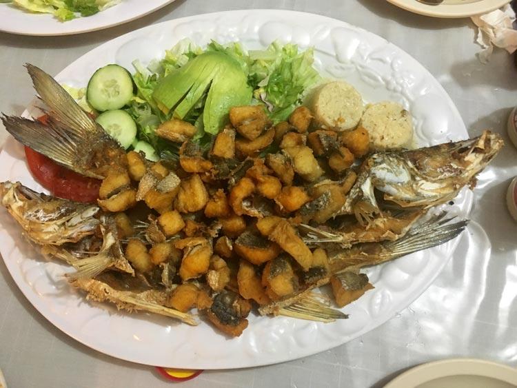 Cuchupeta's fried fish in Mazatlan, Mexico