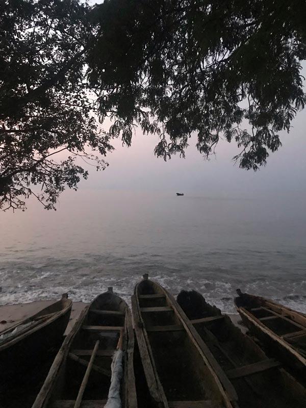 Dusk falls at Morro Peixe fisherman village