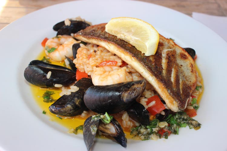 Fresh seafood is in abundance on the island of Jersey