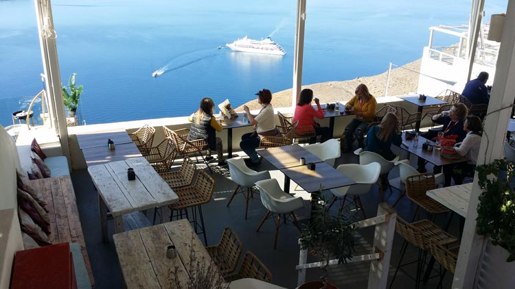 Looking over the caldera, Santorini