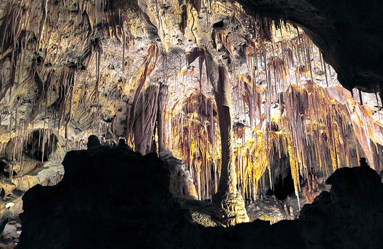 Painted Grotto at the Carlsbad Cavern