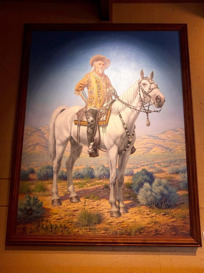 Painting of Buffalo Bill at Lookout Mountain Museum