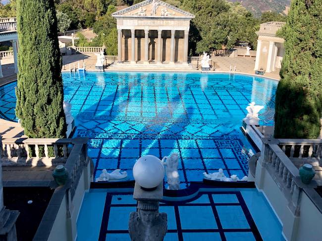 The outdoor Neptune Pool at Hearst Castle. Photo by Claudia Carbone
