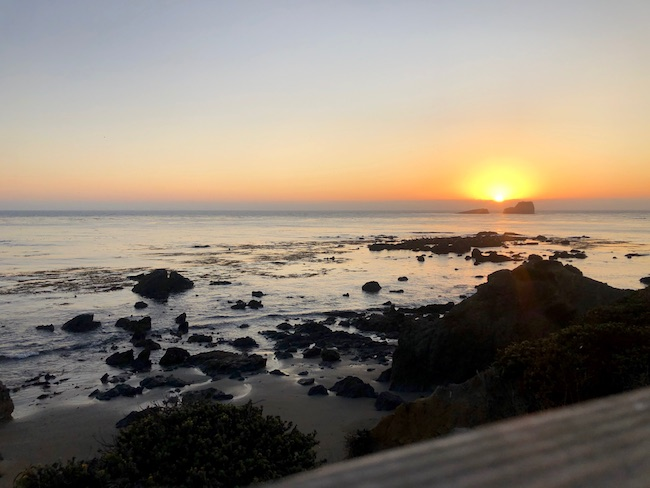 Sunset at Ragged Point. Photo by Claudia Carbone